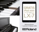 Roland LX-7 Digitalpiano kaufen, gratis iPad mini 2 dazubekommen!
