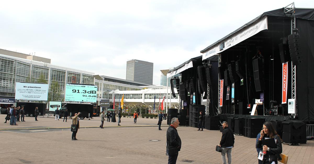 Kirstein auf der Messe Frankfurt - Prolight und Sound Gelände