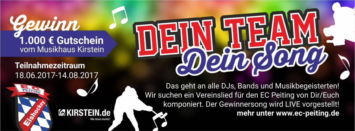 """Wettbewerb """"Dein Team, Dein Song."""" - Komponiere ein Vereinslied für den EC Peiting und gewinne 1.000 Euro!"""
