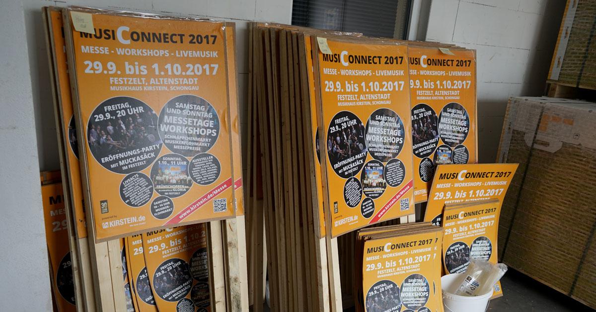Plakate für die MusiConnect