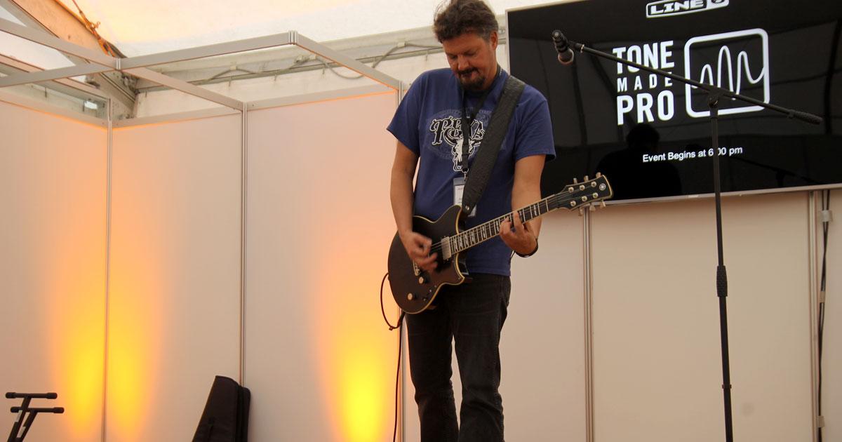 Tone Made Easy: Workshop auf der Messe-Stage mit Christian Schwarzbach von Line6