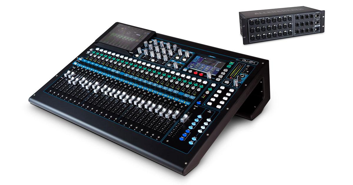 Digitalmischpult QU-24 und digitale Stagebox AR 24/12 von Allen & Heath