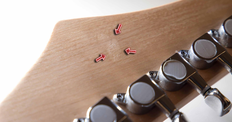 """Eine Gitarre, die als Retoure an uns zurückgesendet wurde und den Zustand """"gut"""" hat."""