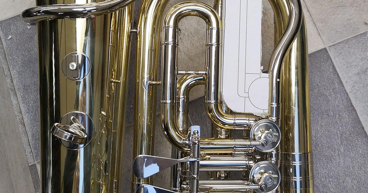 Ventilnachrüstung bei einer Es-Tuba