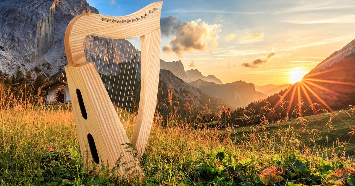Die keltische Harfe