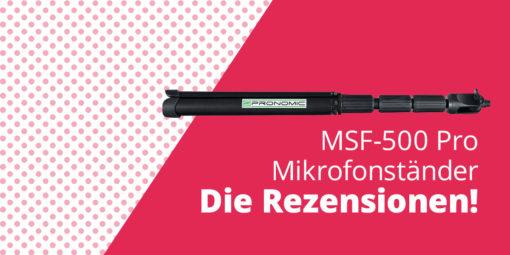 Hier kommt der neue Pronomic MSF-500 Pro! – Für Dich getestet!