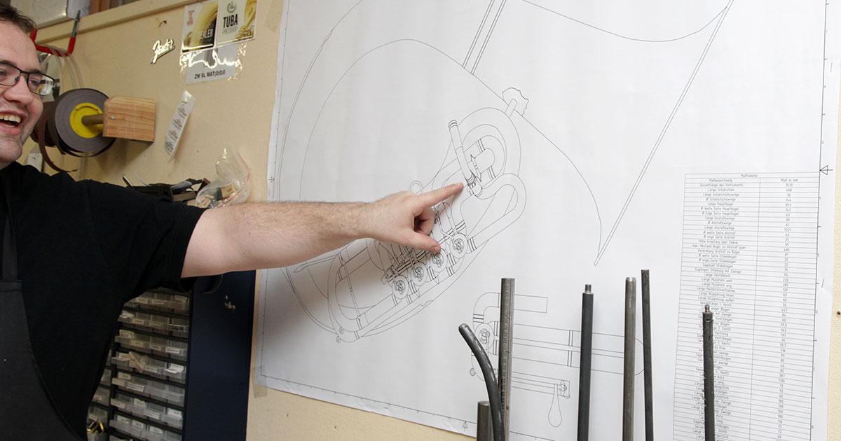 Konstruktionszeichnung Meisterstück Frank Gallitschke