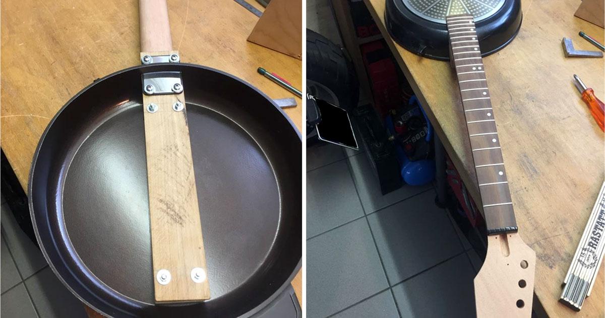 Step 3: Einpassen und Befestigen des Gitarrenhalses in der Pfanne