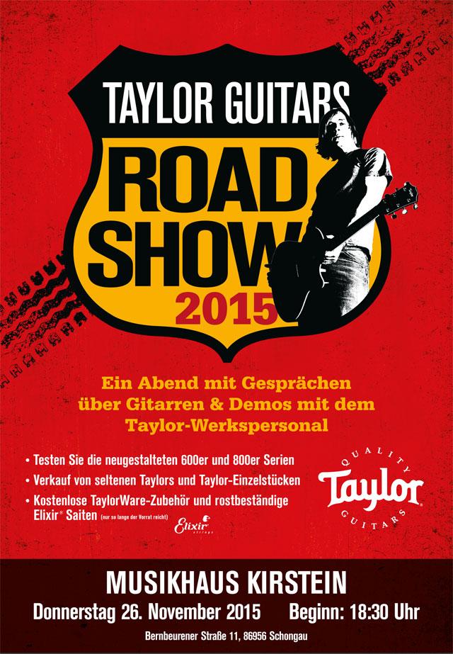 Taylor Road Show 2015 im Musikhaus Kirstein in Schongau.
