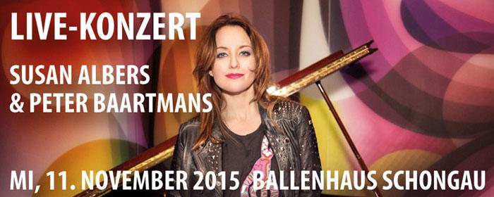 Susan Albers und Peter Baartmans sind am 11. November 2015 zu Gast in Schongau.