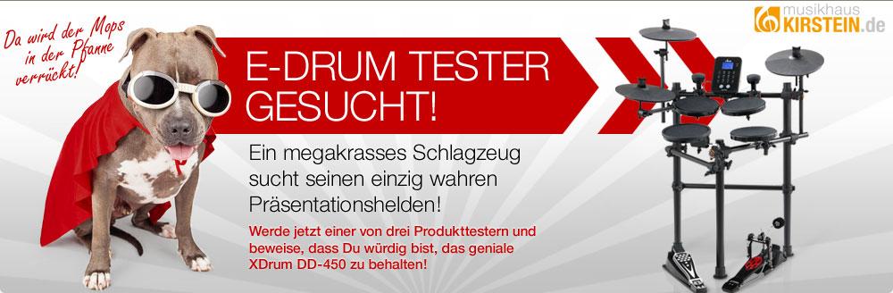 Bewirb Dich jetzt als Produkttester und gewinne das XDrum DD-450 E-Drum!