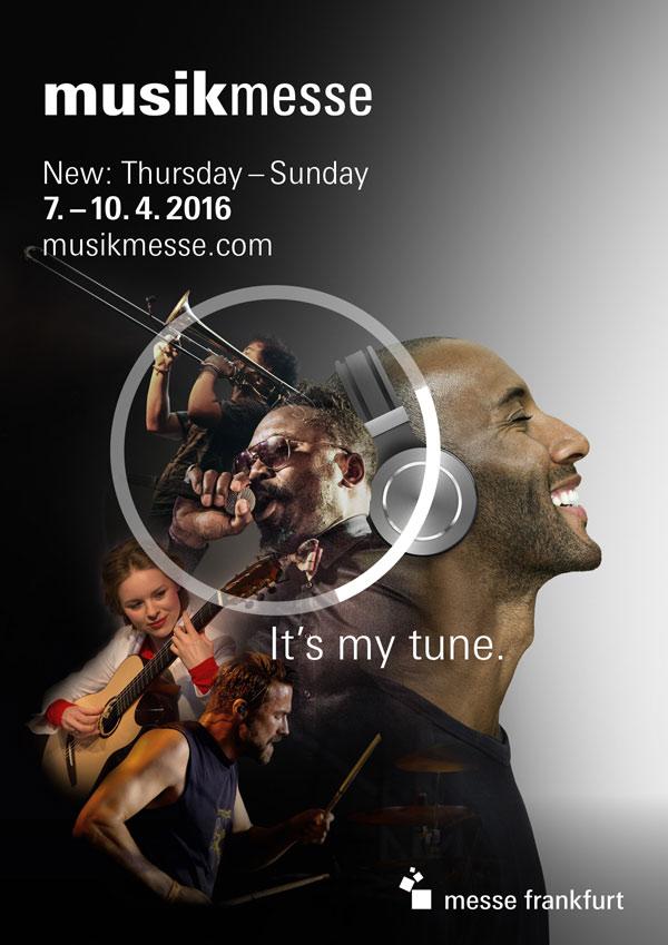 Offizielles Plakat der Musikmesse 2016 in Frankfurt