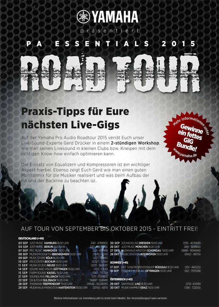 Poster zur Yamaha Road Tour 2015.