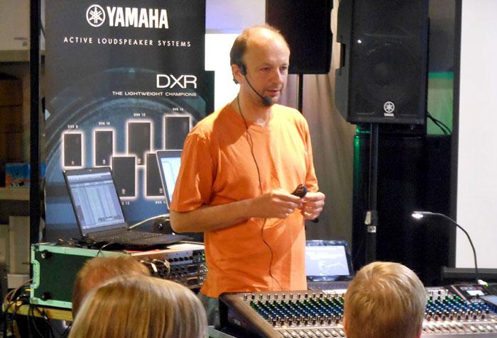 Live-Sound-Experte Gerd Drücker von Yamaha.
