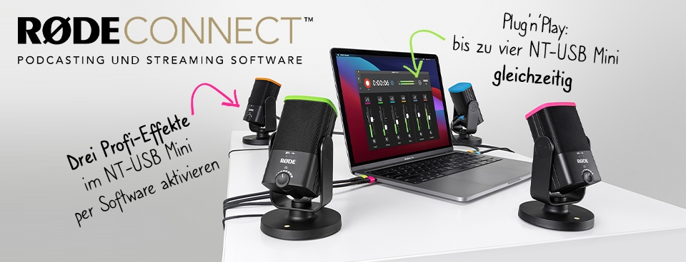 Rode Connect Podcasting und Streaming Software