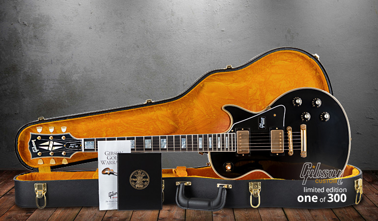Gibson 50th Anniversary 1968 Les Paul Custom EB VOS