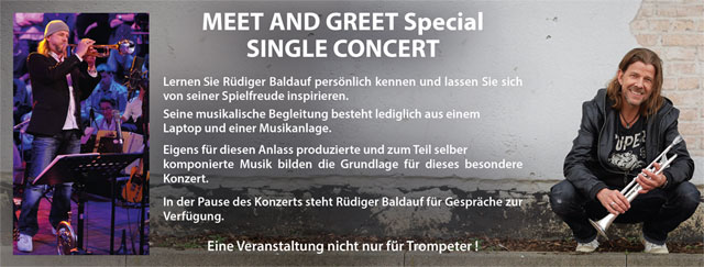 Meet and Greet Special. Flyer © Rüdiger Baldauf.