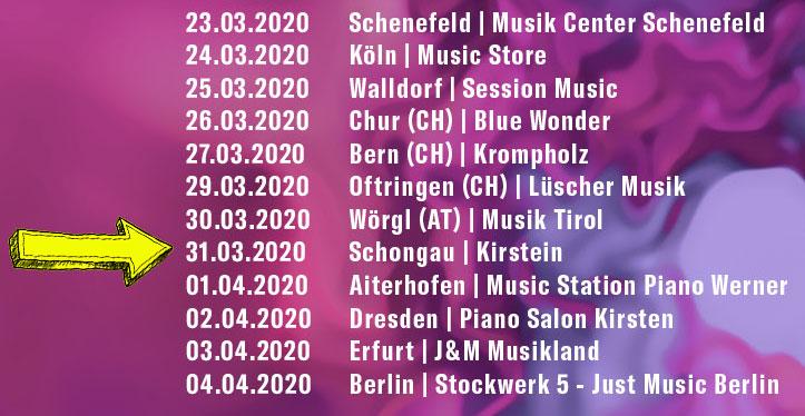 Beatrice Egli, Bei mir zuhaus Tour 2020, Tourdaten.