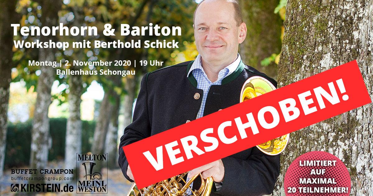 Berthold Schick richtet sich mit seinem Workshop an fortgeschrittene Tenorhorn- und Baritonspieler.