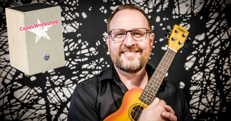 Stefan Beranek wird am Aktionstag Deutschland macht Musik einen Cajon-Workshop anbieten.