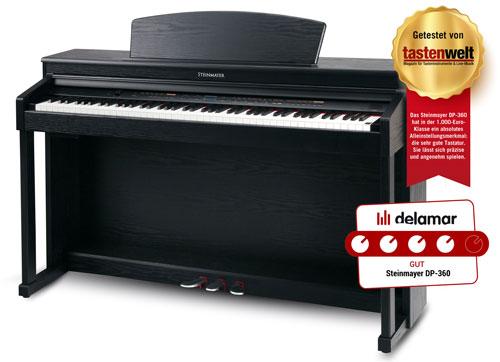 Das Steinmayer-Digitalpiano DP-360 bietet durchdachte Features und eine sehr gute Bedienbarkeit.