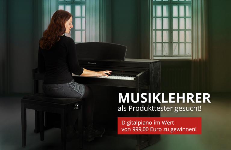 Digitalpiano testen, Digitalpiano gewinnen! Produkttest für Musiklehrer.