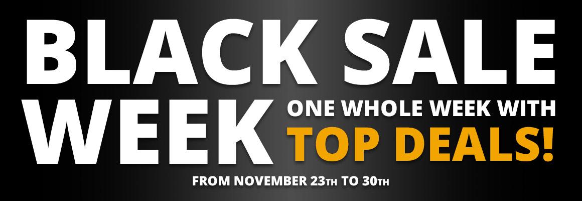 Black Sale Week - One whole week with top deals