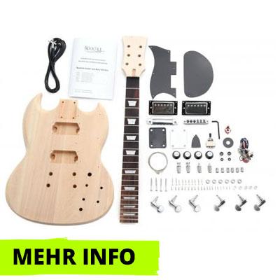 E-Gitarre Bausatz Double Cut-Style
