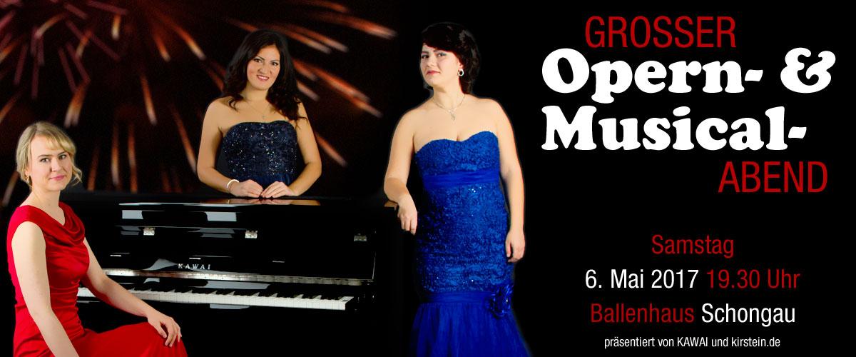 Am 6. Mai präsentieren KAWAI und das Musikhaus Kirstein im Ballenhaus Schongau einen wunderbaren Opern- und Musicalabend.