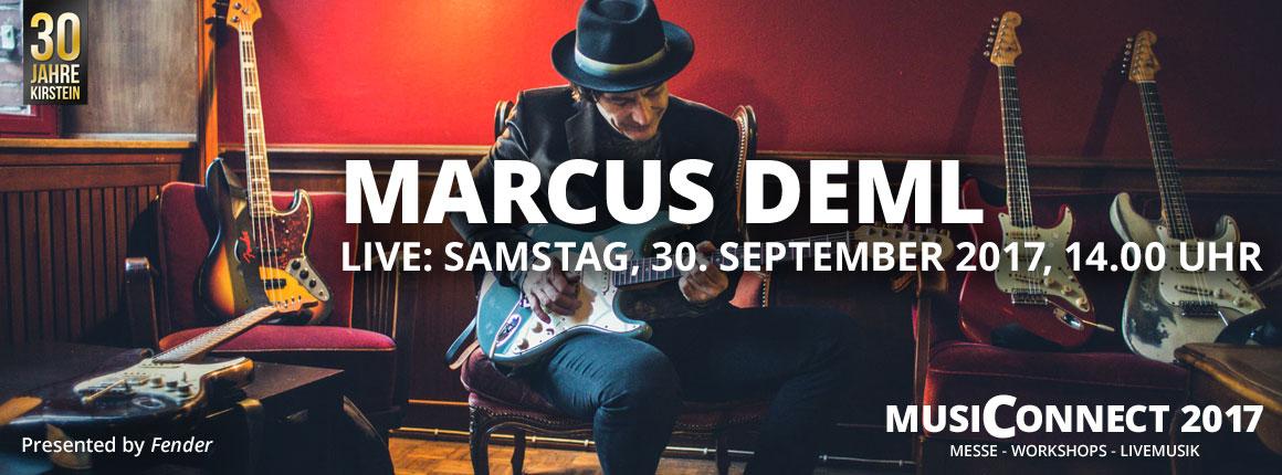 Live bei der MusiConnect 2017: Marcus Deml.