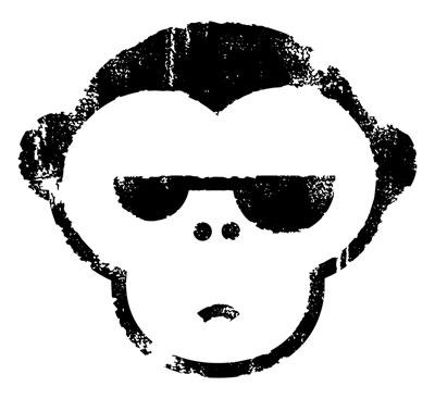 Logo Mr. Serious + The Groove Monkeys.