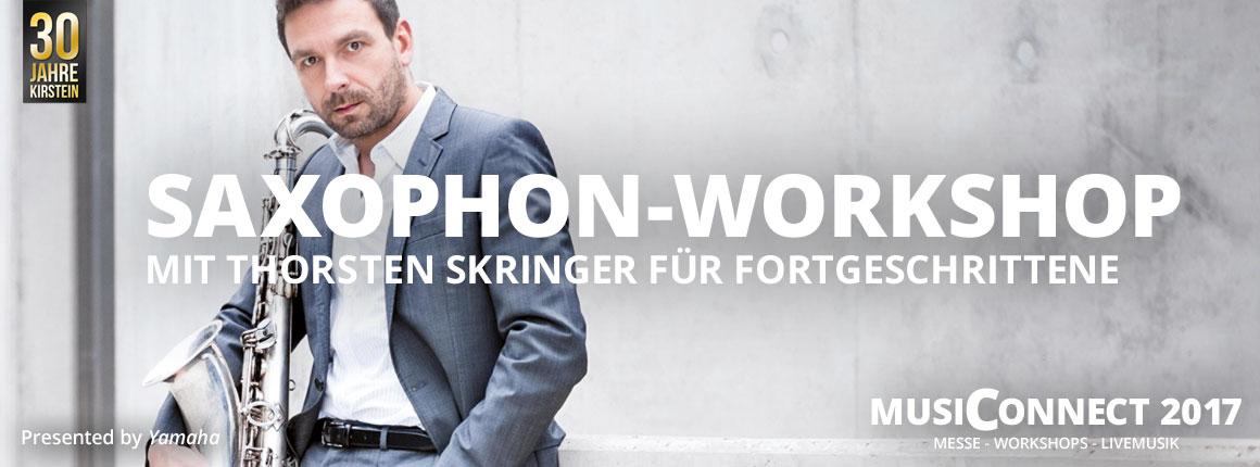 Yamaha Saxophon-Workshop mit Thorsten Skringer bei der MusiConnect 2017