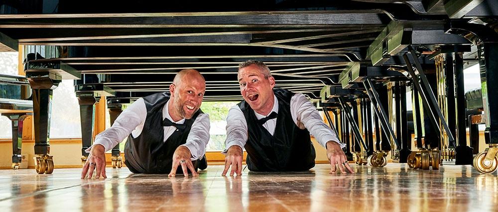 Stephan Weh und Marcel Dorn sind Klaviervirtuosen mit Humor.