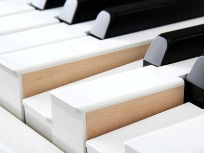 Eine Holztastatur ist eher bei den Digitalpianos im oberen Preissegment zu finden.