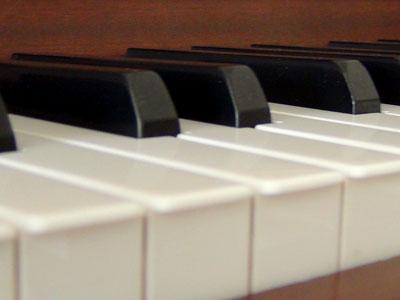 Piano-Sound auf einem Digitalpiano.