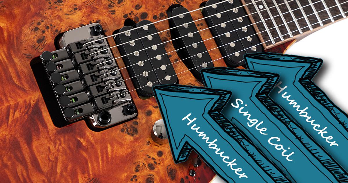 Die Tonabnehmer der Ibanez RG1070PBZ-BTB Premium E-Gitarre.