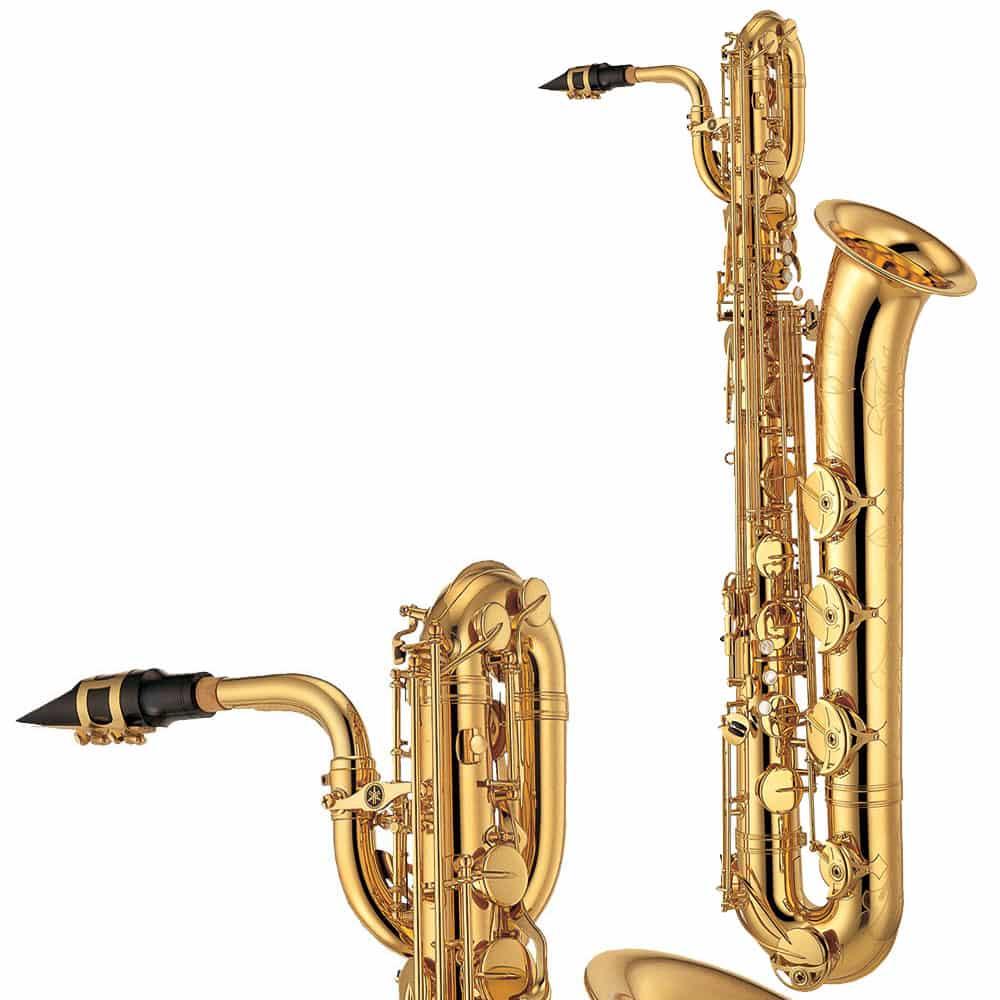 Baritonsaxophon der Marke Yamaha.