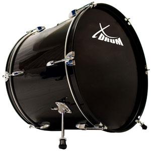 Die Bass Drum des Studio-Schlagzeugs XDrum Semi 20. Die Bass Drum ist beim Aufbau das Grundelement des Sets.