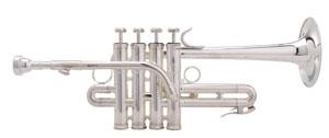 Piccolotrompete mit Quartventil.