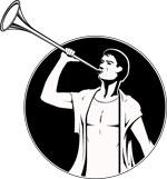 Auch die Fanfare gehört zu den Naturtrompeten. Sie wurde als Signalinstrument eingesetzt. Quelle Grafik: pixabay.