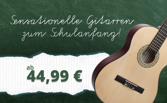 Sensationelle Gitarren zum Schulanfang