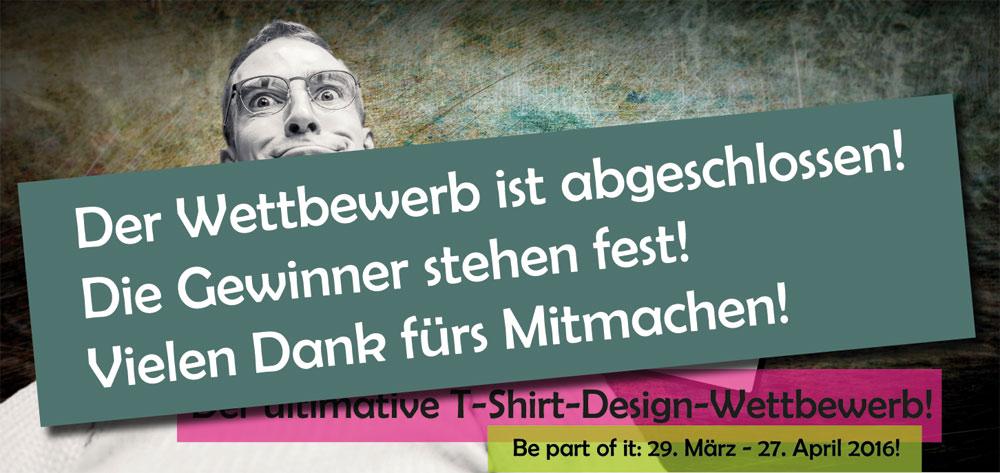 Der T-Shirt-Design-Wettbewerb ist abgeschlossen.