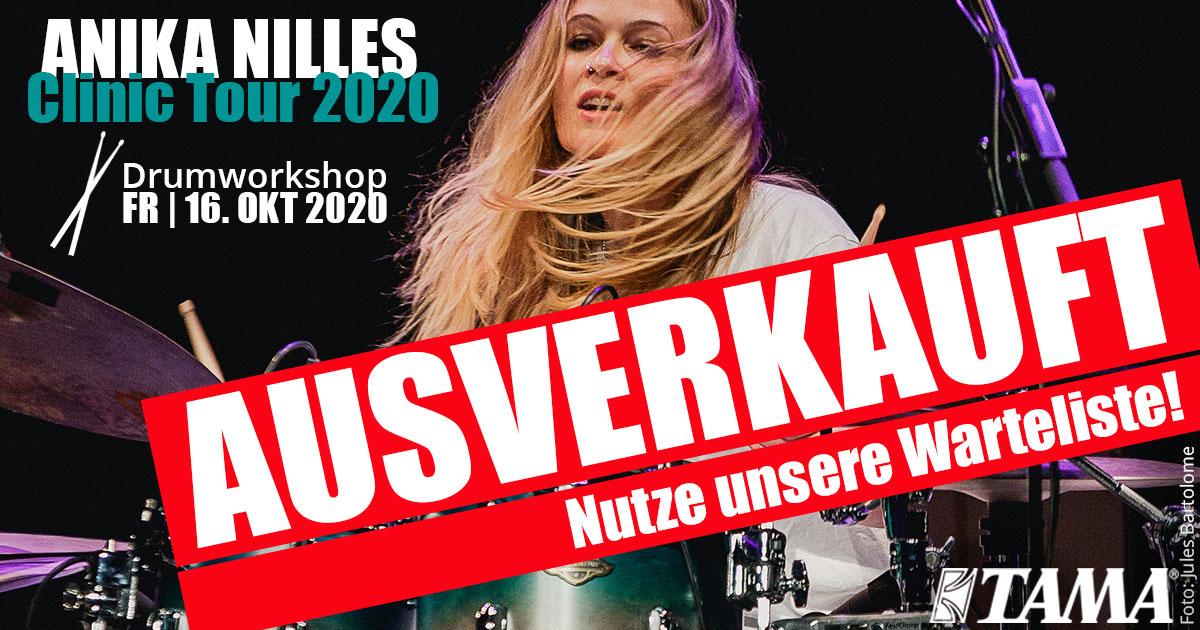 Anika Nilles Drum Clinic Tour 2020 im Musikhaus Kirstein in Schongau ausverkauft!