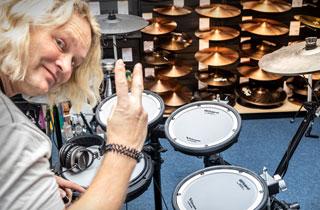 Dirk Brand beim V-Drums-Day 2018 im Musikhaus Kirstein