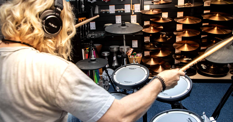 V-Drums-Day mit Dirk Brand im Musikhaus Kirstein.
