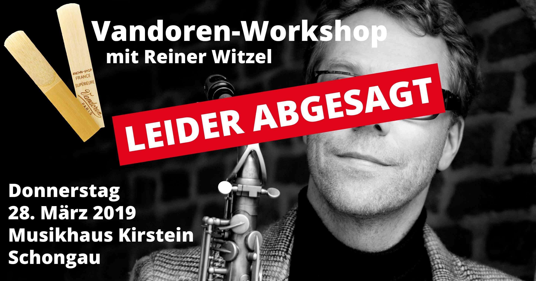 Der Workshop am 28. März 2019 im Musikhaus Kirstein fällt leider aus.