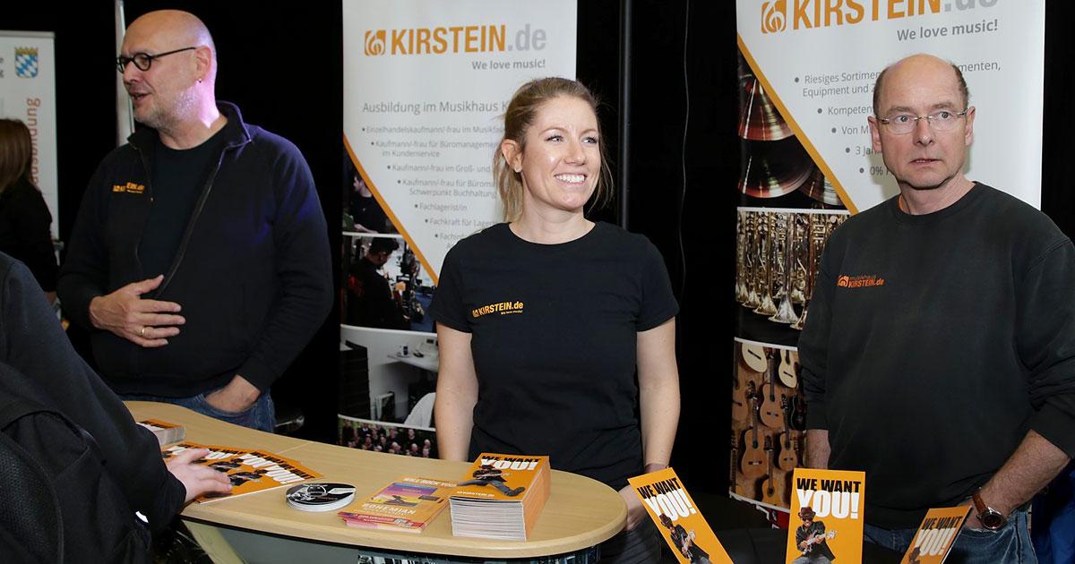Musikhaus Kirstein bei der Ausbildungsmesse SAM.