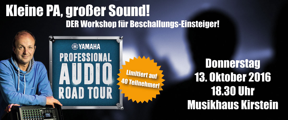 Banner Yamaha Pro Audio Road Tour 2016 Musikhaus Kirstein