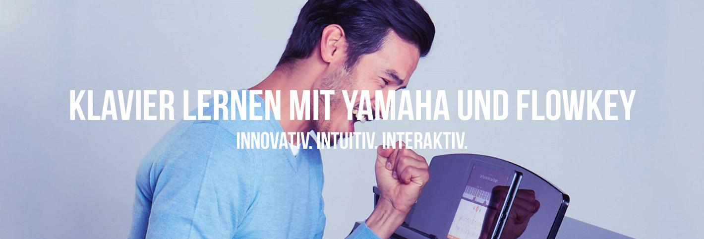 Klavier lernen mit Yamaha und Flowkey. Innovativ. Intuitiv. Interaktiv.