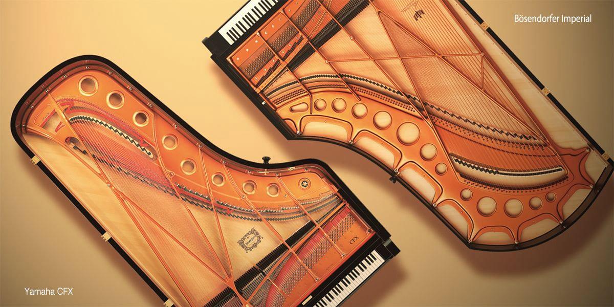 Yamaha CFX und Bösendorfer Imperial Konzertflügel